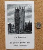 St Nicholas Parish Church vintage restoration leaflet 1969 Alcester Warwickshire